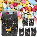 Schwarz geschenk einkaufstasche 6 teile/paket exquisite nachthimmel süßigkeiten verpackt beutel weiß karton schokolade verpackungsbox 9,5x8,2x5,5 cm