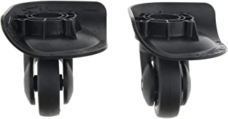 MagiDeal 2 Pieces DIY Travel Luggage Left And Right Swivel Coaster Wheels Black A53