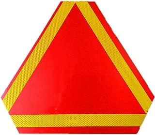 Hieefi 1 ST/ÜCK Tragbare Warnreflektor Langsam fahrendes Fahrzeug Schild mit Reflexstreifen Sicherheitsdreieck Warnschild f/ür LKW Anh/änger Autozubeh/ör