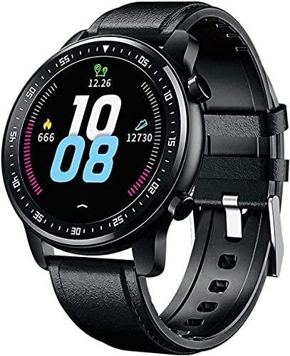Reloj inteligente Fitness Tracker Presión arterial Monitor de ritmo cardíaco Sport Music smartwatches para hombres y mujeres-negro