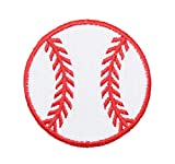 (2-1/4') Baseball - Red/White - Sports - Iron on Applique/Embroidered Patch