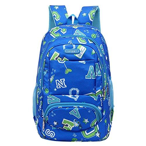 Mochilas para niñas Cool Mochilas para la escuela Venta barata Mochila para adolescentes niñas niños mochila escuela letra impresión mujer estudiantes bolsas, color azul, tamaño Tamaño libre