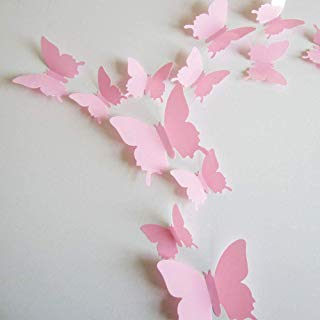 24pcs 3D Butterfly Removable Mural Stickers Wall Stickers...