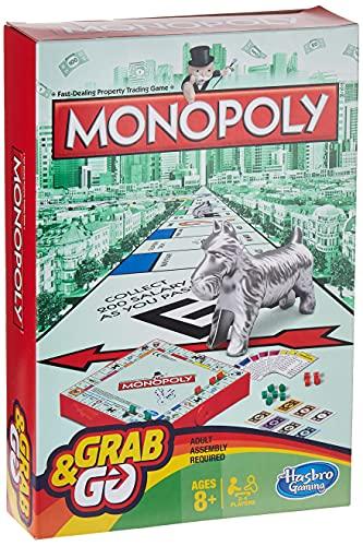 Hasbro Gaming- Juego de Viaje Monopoly, versión inglésa (B1002802)