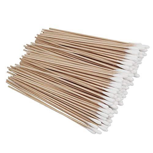 Sungpunet 100 Pièces 6 pouces bâtons en bois coton-tige de nettoyage coton Bâtons bois cotons-tiges Maquillage cosmétiques Applicateur Sticks utile et beau