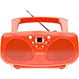 Raphie BP10 CD Player Portable Boombox with FM Radio for Kids, Colourful Design