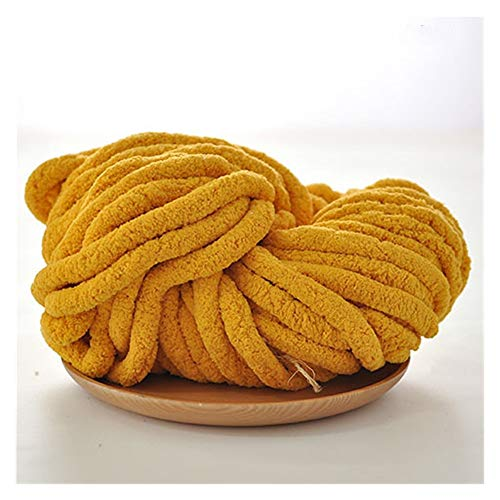 QXYOGO Chunky Yarn Empty hand woven scarf super thick woolen hat blanket lines 1 (Color : 06 turmeric)