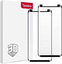 Tembin® Tempered Glass Screen Protector for Galaxy S8, Full Adhesive Anti-Fingerprint Bubble-Free Screen Film, Leather Case Friendly Full Coverage Screen Cover for Samsung Galaxy S8 [ 2 Pack ]