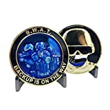 A-007 SWAT Operator Police Challenge Coin Thin Blue Line NYPD LAPD Chicago FBI CBP
