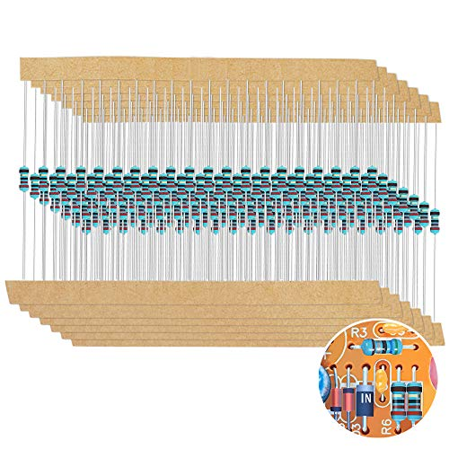 1280 Pieces 64 Values Resistor Kit, 1% Assorted Resistors 1 Ohm-10M Ohm 1/4W Metal Film Resistors Assortment for DIY Projects and Experiments