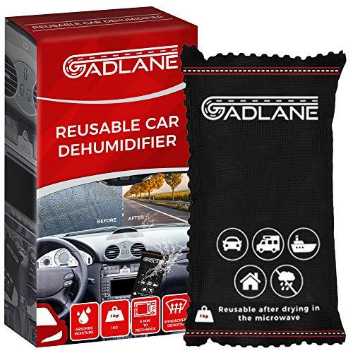 GADLANE X-Large Wiederverwendbarer Luftentfeuchter Auto Entfeuchter Kissen Klar Beseitigt Neblige Windschutzscheibe Feuchtigkeit Absorbiert Alle Feuchtigkeit Caravan Van Silica Gel 1kg Tasche