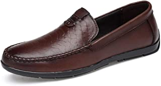 YENLI Men's Santa Cruz 2 Luxe Loafer   Casual Comfort Slip On with Memory Foam Footbed   Lightweight Dress or Walking Shoe (Color : Darkbrown, Size : 5.5 M US)