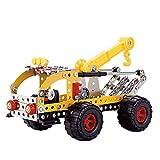 ColorBaby - Camión grúa metal mecano, 262 piezas Smart Theory (49035)