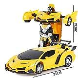 Redcolourful 1:18 Simulation Fahrzeugmodell Kinder Roboter Verwandeln Auto Spielzeug Intellektuelle Entwicklung Maschine Gelb 1:18 -