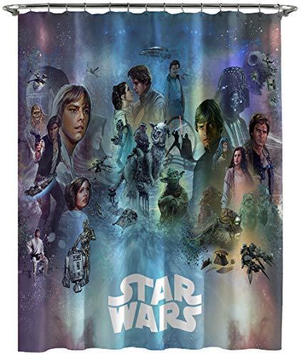 Jay Franco Star Wars Celebration Limited Edition - Cortina de Ducha, Color Azul