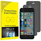 JETech Privacy Screen Protector for iPhone SE (2016 Edition), iPhone 5s, iPhone 5c and iPhone 5, Tempered Glass Film, 2-Pack