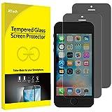JETech Protector de Pantalla de Privacidad Compatible iPhone SE (Edición 2016), iPhone 5s, iPhone 5 y iPhone 5c, Vidrio Templado, Antiespía, 2 Unidades