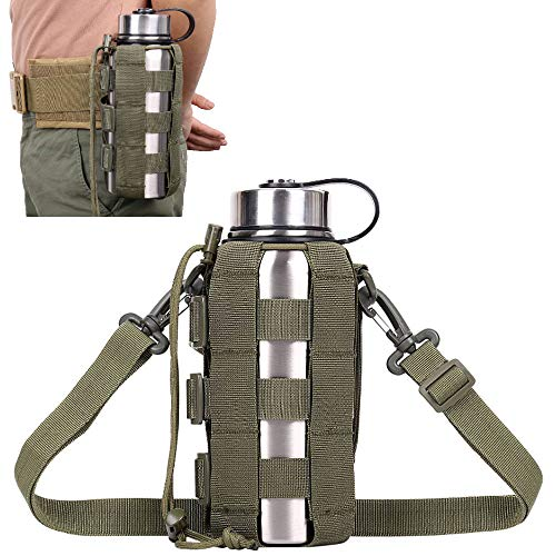 ATBP Tactical Water Bottle Carrier Pouch with Adjustable Shoulder Strap, Molle...