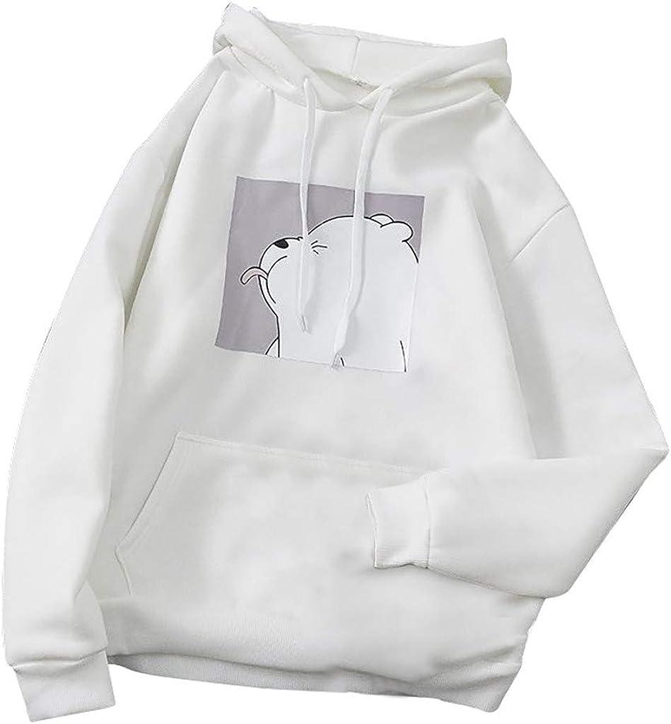 BABAKE HoodiesforWomenPullover,Cute Long Sleeve Teen Girls Sweatshirt Frog Printed with Pocket Hooded Blouse Tops