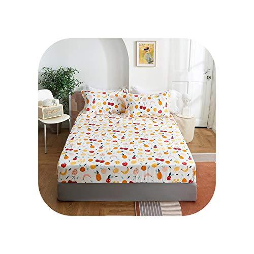 Star Harbor Baumwollbett Set |2020 1 Stück Baumwolldruck Bettmatratze Set mit Vier Ecken und Gummibändern-shuiguopaiduixin-180X200X25cm