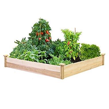 Best Value Cedar Raised Garden Bed Planter 48  W x 48  L x 7  H