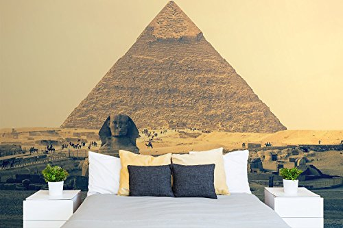 Oedim Fotomural Vinilo Pared Piramide Egipto 200x150cm | Murales de Pared Ideal para Cualquier Tipo de Espacio | Fotomurales Económicos | Vinilos Decorativos Pared | Vinilos Infantiles