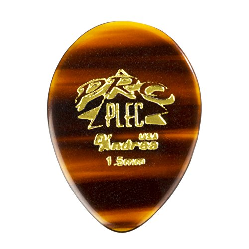 D'Andrea PRO-358 Pro Plec 1.5mm Guitar Pick with Shell Finish (12 Piece, Pointed Teardrop)