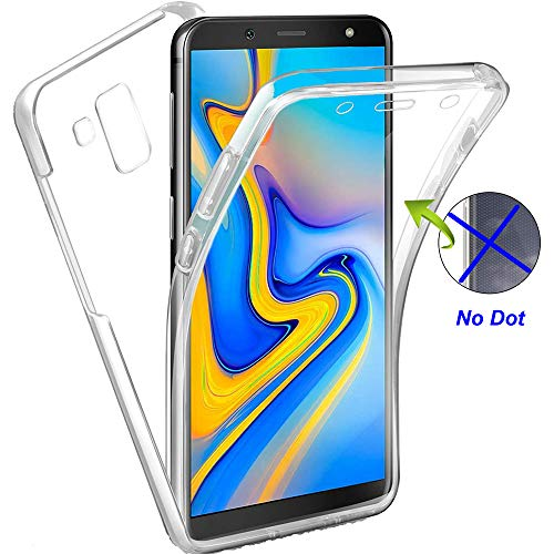 Nadoli 360 Degres Full Body Coque Case Cover Clear Transparent Ultra Slim Silicone Gel Case Intégral Protection Anti-Rayures Coque Housse pour Samsung Galaxy A8 Plus 2018