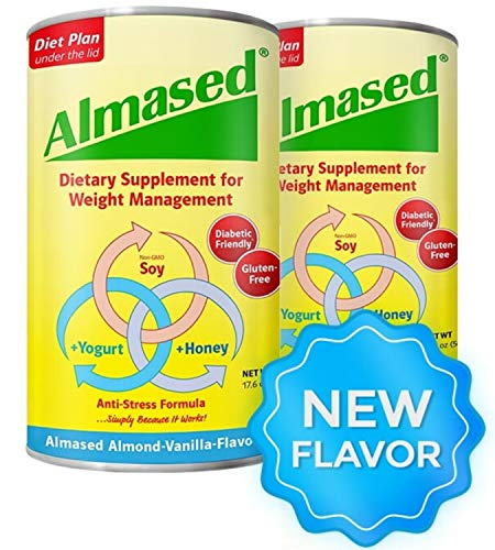 Almased Meal Replacement shakes – Gluten-Free, non-GMO Weight Management Powder – Vanilla Flavor, 17.6 oz (2 pack)