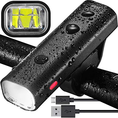 Evolva Future Technology Ricaricabile Luce Bici USB CREE LED Faro per Bicicletta