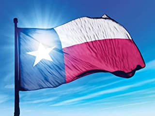DIY 5D Diamond Painting Kits for Adults Full Drill American Texas State Flag Crystal Cross Stitch Rhinestone Art Craft for Home Wall Decor Special Gift (Round Diamond 11.8x15.8in)