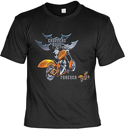 Bike t-shirt motif forever choppers rule fb (noir) 50 Noir - Noir