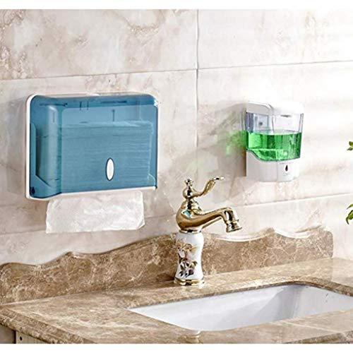 ZQCM Wandmontage 600 ml Flüssigseifenspender Duschkörperlotion Shampoo Auto Sensor Seifenspender für Badezimmer Küche