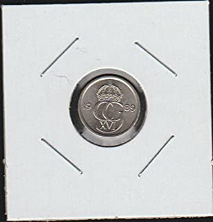 1989 SE Crowned Monogram Divides Date 10 Ore Choice About Uncirculated Details