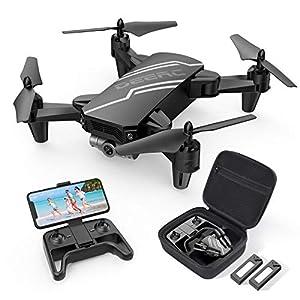 720P HD FPV Kamera:Wer möchte nicht mal die Welt von oben sehen? Mit der FPV Drohne, die eine 720P, 90° schwenkbare Kamera mit Live-Übertragung besitzt, kann man es verwirklichen, seiner Verbundenheit zur Natur aus der Vogelperspektive zu erleben. Me...