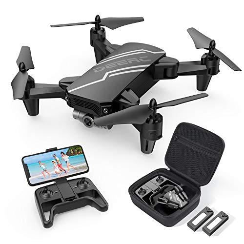 DEERC D20 Drohne für Kinder mit Kamera HD,Faltbar RC Quadcopter mit FPV Live Übertragung,Lange Flugzeit,Gestensteuerung,Flugbahn,Höhenhaltung,One Key Start/Landen,Headless Modus,3D Flips für Anfänger