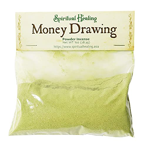 Spiritual Healing - Money Drawing Powder, Fast Luck Lotto, Makko Powder, Incense Making Kit, Money Drawing Candle, Loose Incense, Handcrafted with Herbs - 1 oz