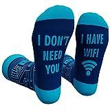Cavertin Men's Fathers Day Programming Alien Sasquatch Socks with Gift Box for Dad Grandpa