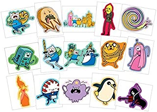 Adventure Time Stickers - Series 2 - Complete Set of 15 Large Stickers (Includes Jake, Finn, Princess Bubblegum, Ice King, BMO, Marceline, Lady Rainicorn and more..)