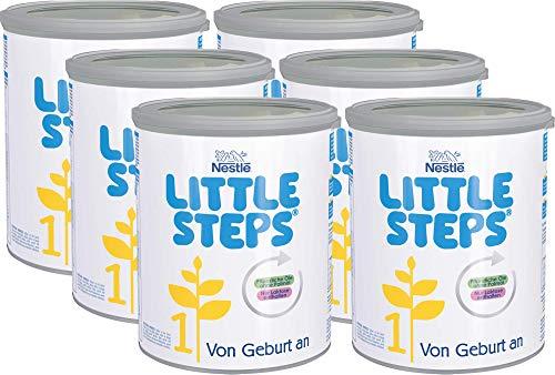 Nestlé LITTLE STEPS 1 Anfangsnahrung, von Geburt an, 6er Pack (6 x 800g)