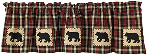 Amazon Com Park Designs Concord Bear Lined Valance 60 X 14 Home Kitchen