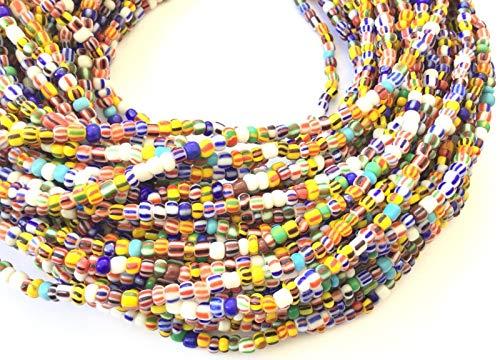Ghana Vintage Strand Beads African Assortment Glass African Trade Beads-Ghana