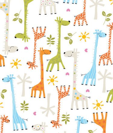 Baby Giraffe Gift Wrapping Roll 24' x 15' - Baby Shower Gift Wrap Paper