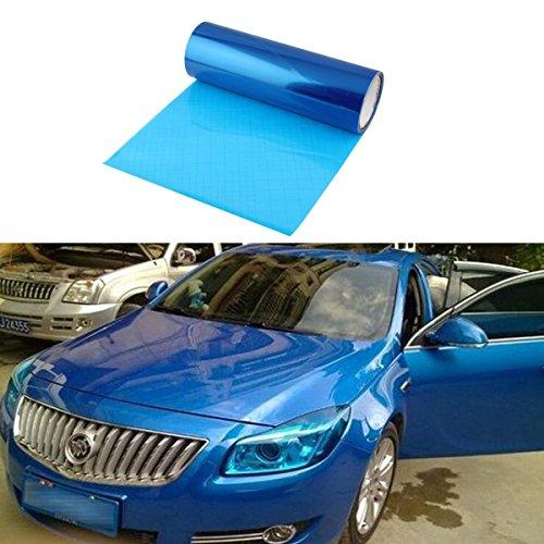 SMKJ Scheinwerfer Folie Tönungsfolie Aufkleber für Auto Scheinwerfer Rückleuchten Blinker Nebelscheinwerfer Gr.200cm x 30cm (Blau)