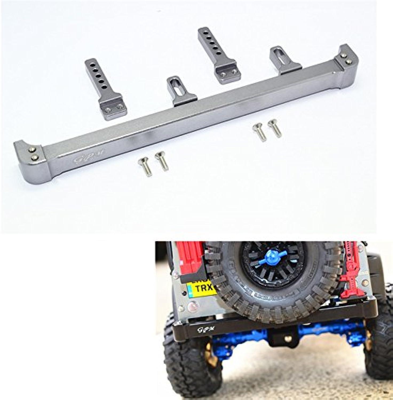LaDicha Paraurti Posteriore in Lega di tuttiuminio + Viti Adatte per Traxxas TRX-4 1 10 Crawler Ricambi Auto Rc - Grigio