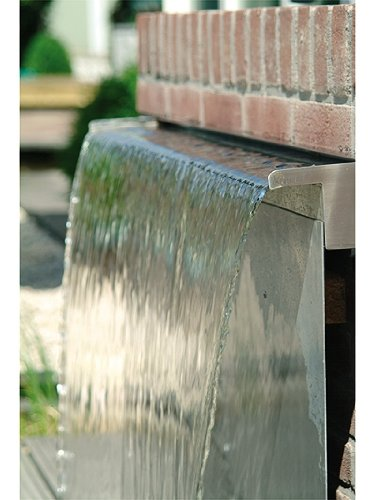 Primrose Cascada de Acero Inoxidable (30cm) - Suministro de Agua por la Parte Trasera