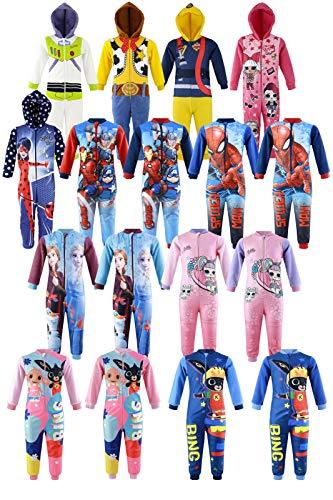 Characters Catroons Schlafanzug mit Reißverschluss aus Fleece, für Mädchen 8 Jahre