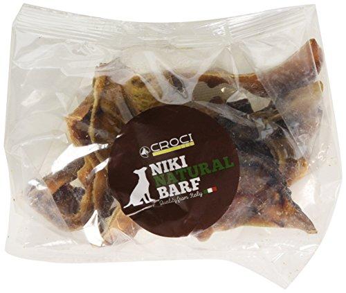 Croci Niki Natural Barf Dieta Barf per Cani Ritagli Orecchio di Suino 200g 220 gr