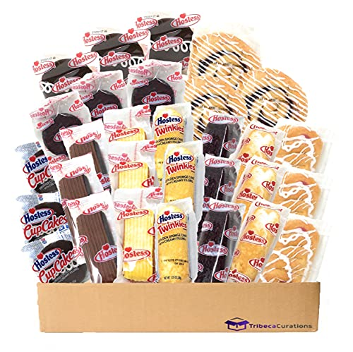 Hostess Variety Pack   Cupcakes, Cinnamon Rolls, Danish, Ding Dongs, Twinkies, Zingers   30 Count