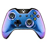 eXtremeRate Hülle für Xbox One Controller,Gehäuse Case Ersatzteile Zubehör Faceplate für Xbox One Standard Controller mit Oder Ohne 3,5mm Anschluss(Lila-Blau)